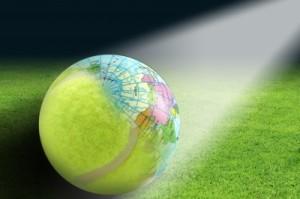 tennis ball map of world